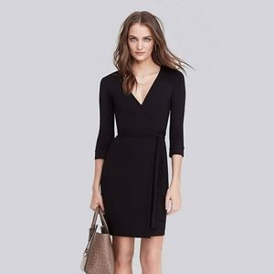 Diane Von Furstenberg Black Classic Wrap Dress 4